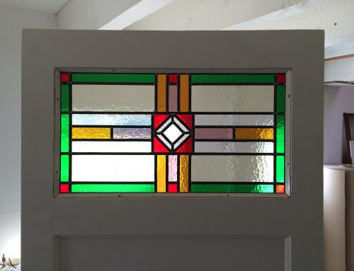 Deur bovenlicht glas-in-lood