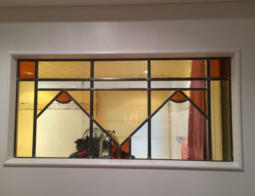 Klassiek glas-in-lood bovenlicht binnendeur