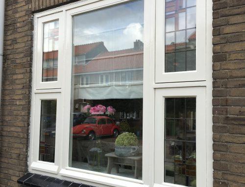 Glas-in-lood restauratie en plaatsing in dubbelglas