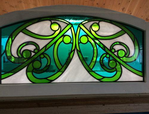 Bovenlicht glas-in-lood in isolatieglas