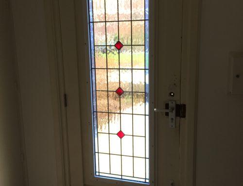 Glas-in-lood met isolatieglas in voordeur