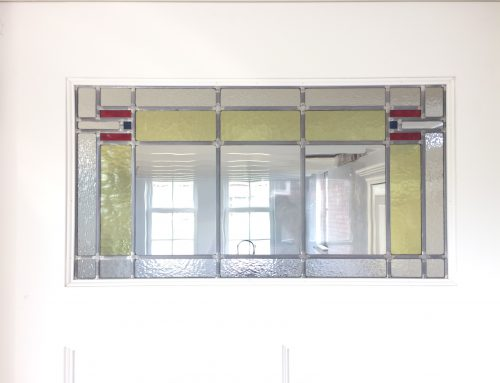 Glas-in-lood bovenlicht binnendeur